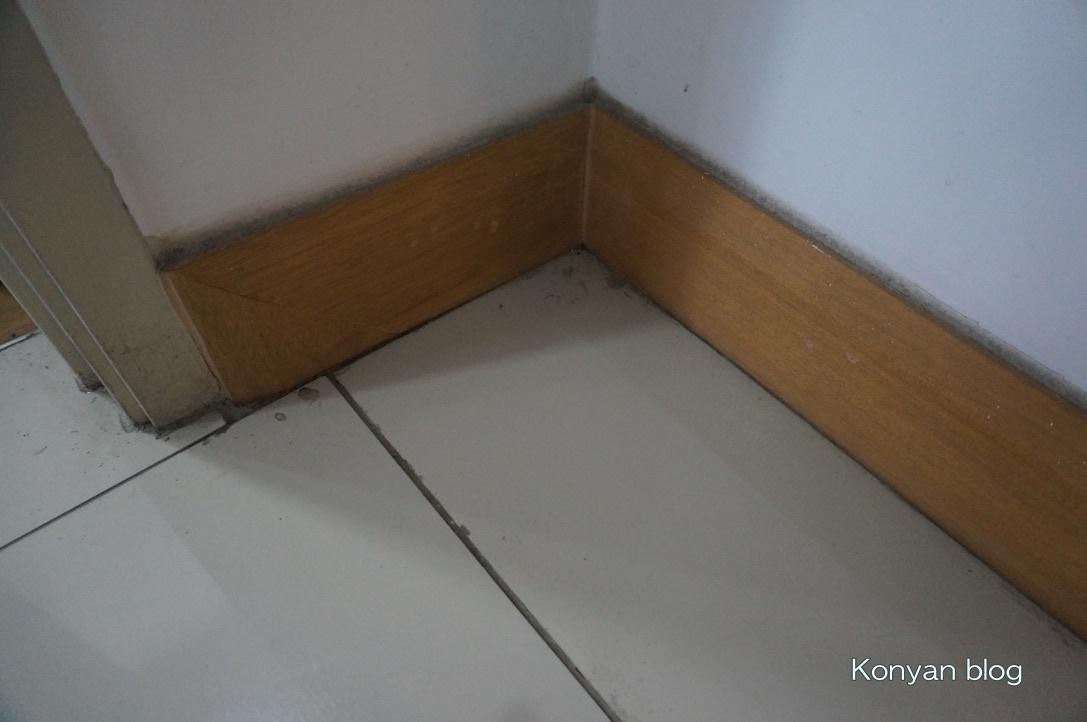 dust at corner