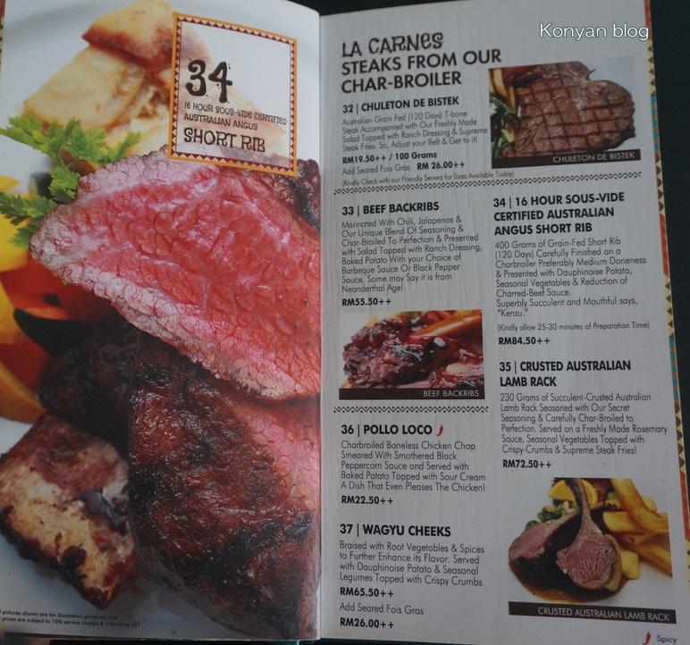 las carretas menu 4