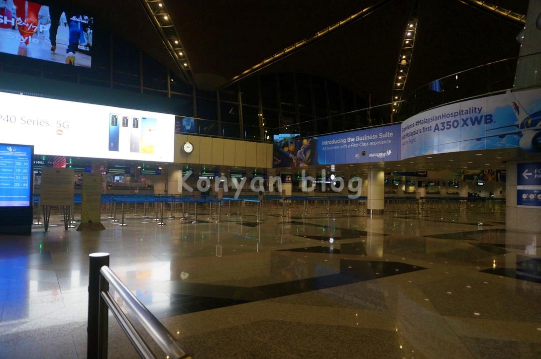 klia departure hall 出国counter
