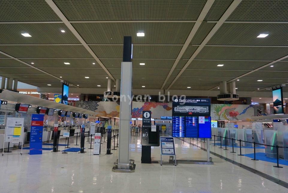 成田空港 出発 lobby