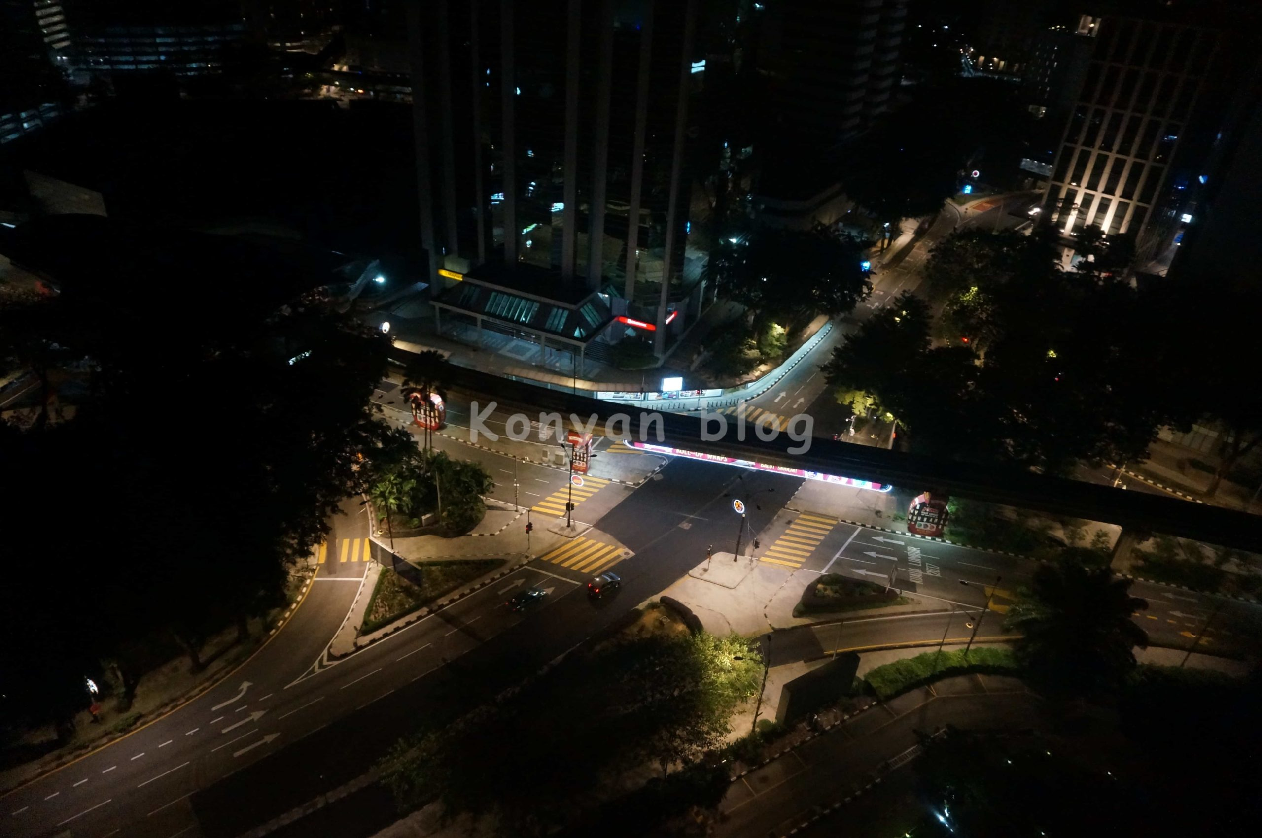 Intersection in front of Istana Hotel