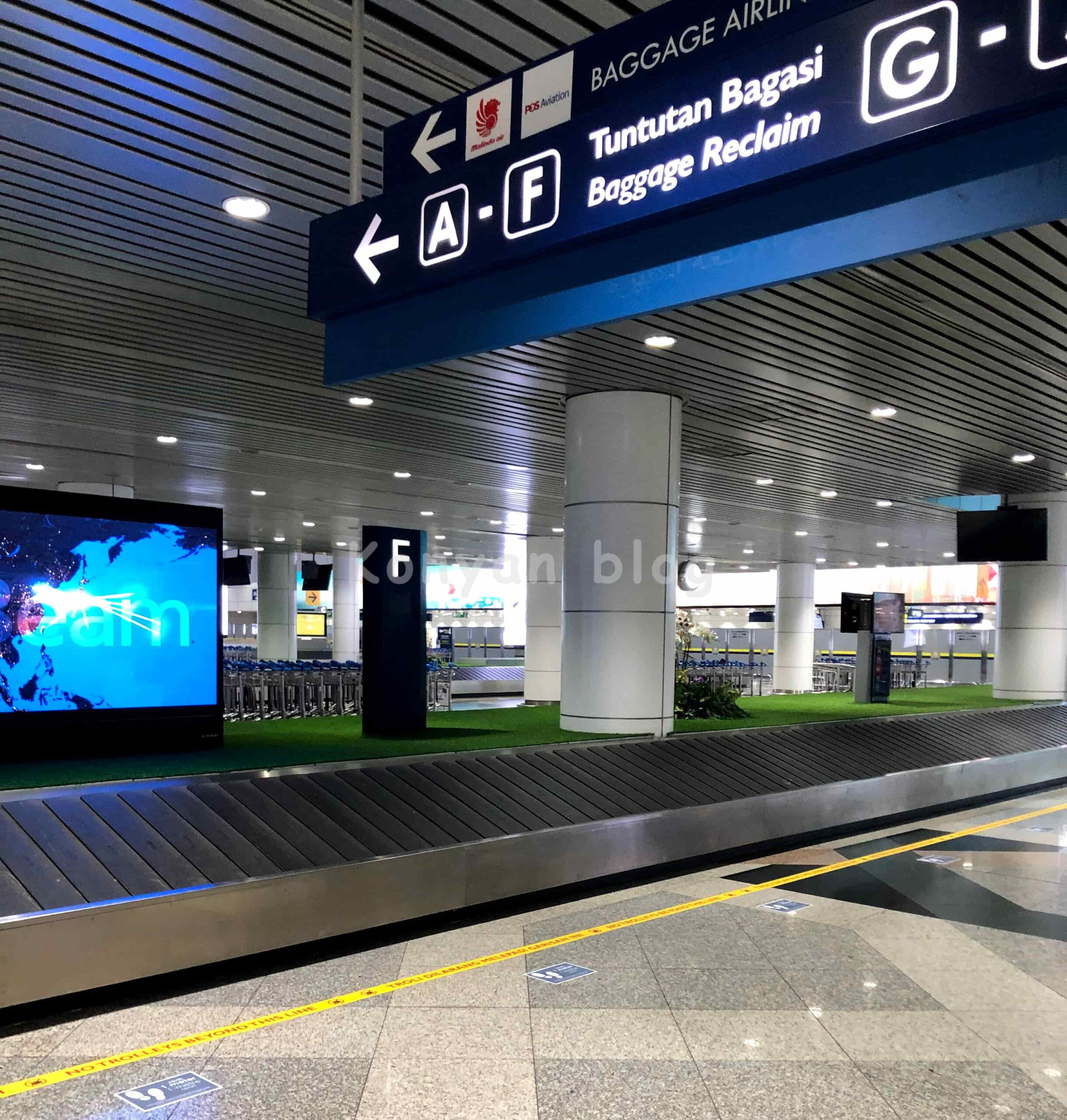 baggage reclaim KLIA 手荷物検査