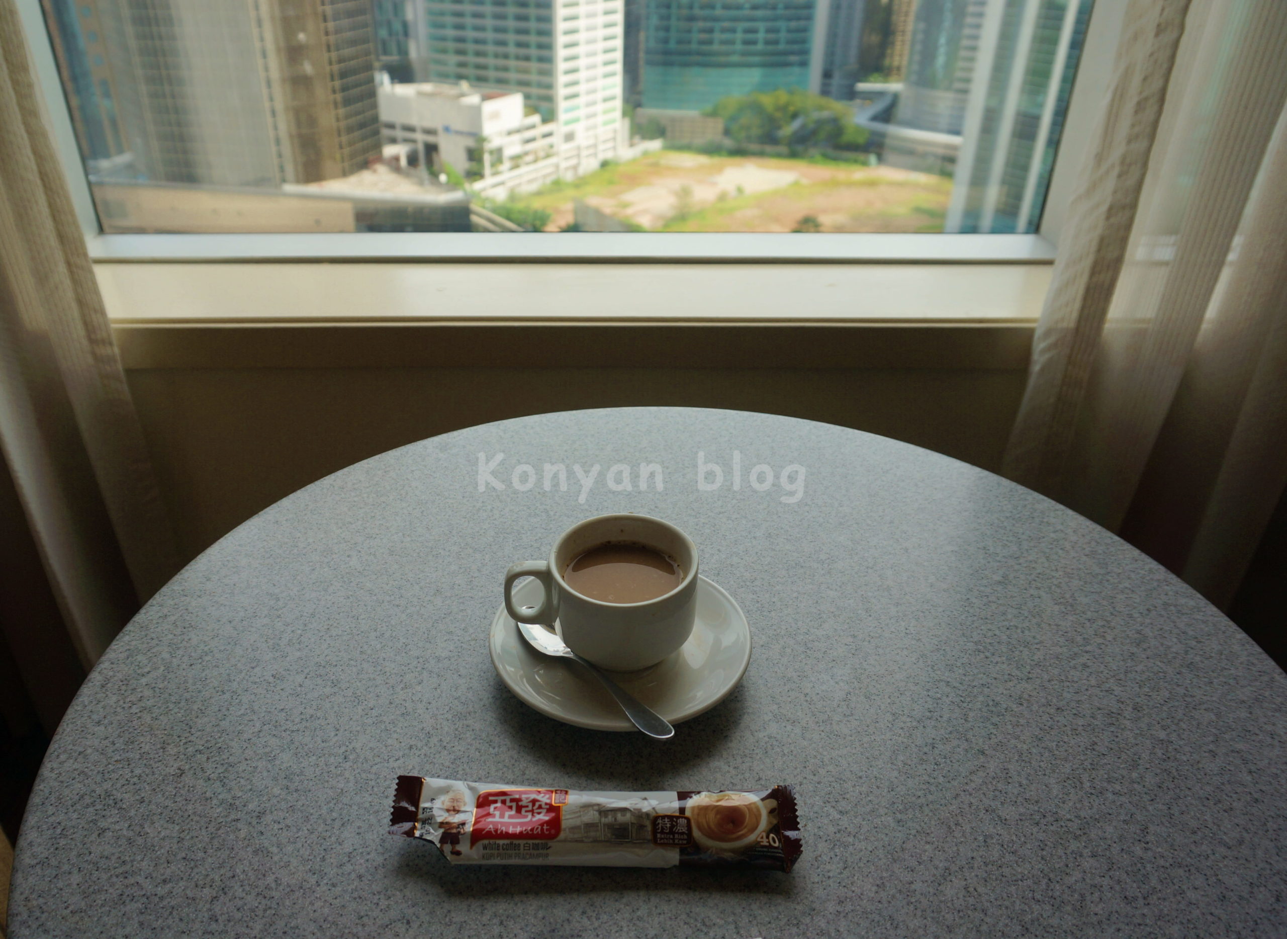 white coffee in q-stay package
