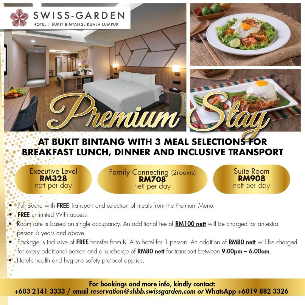 Premium Package swiss garden hotel