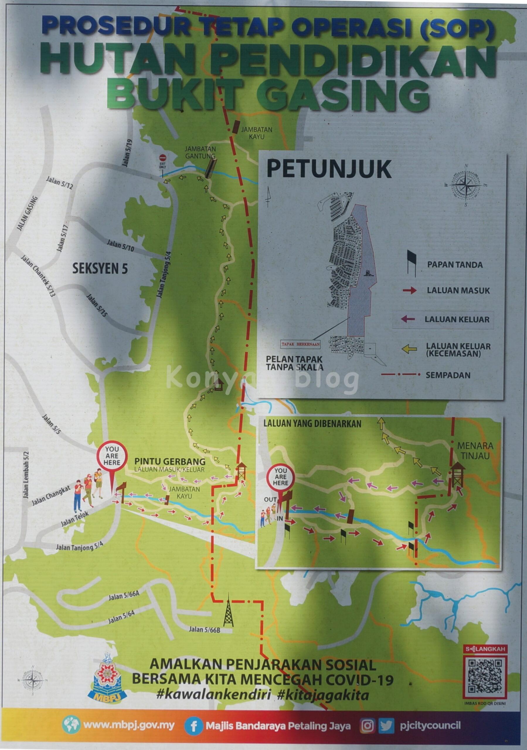 Hutan Pendidikan Bukit Gasing map