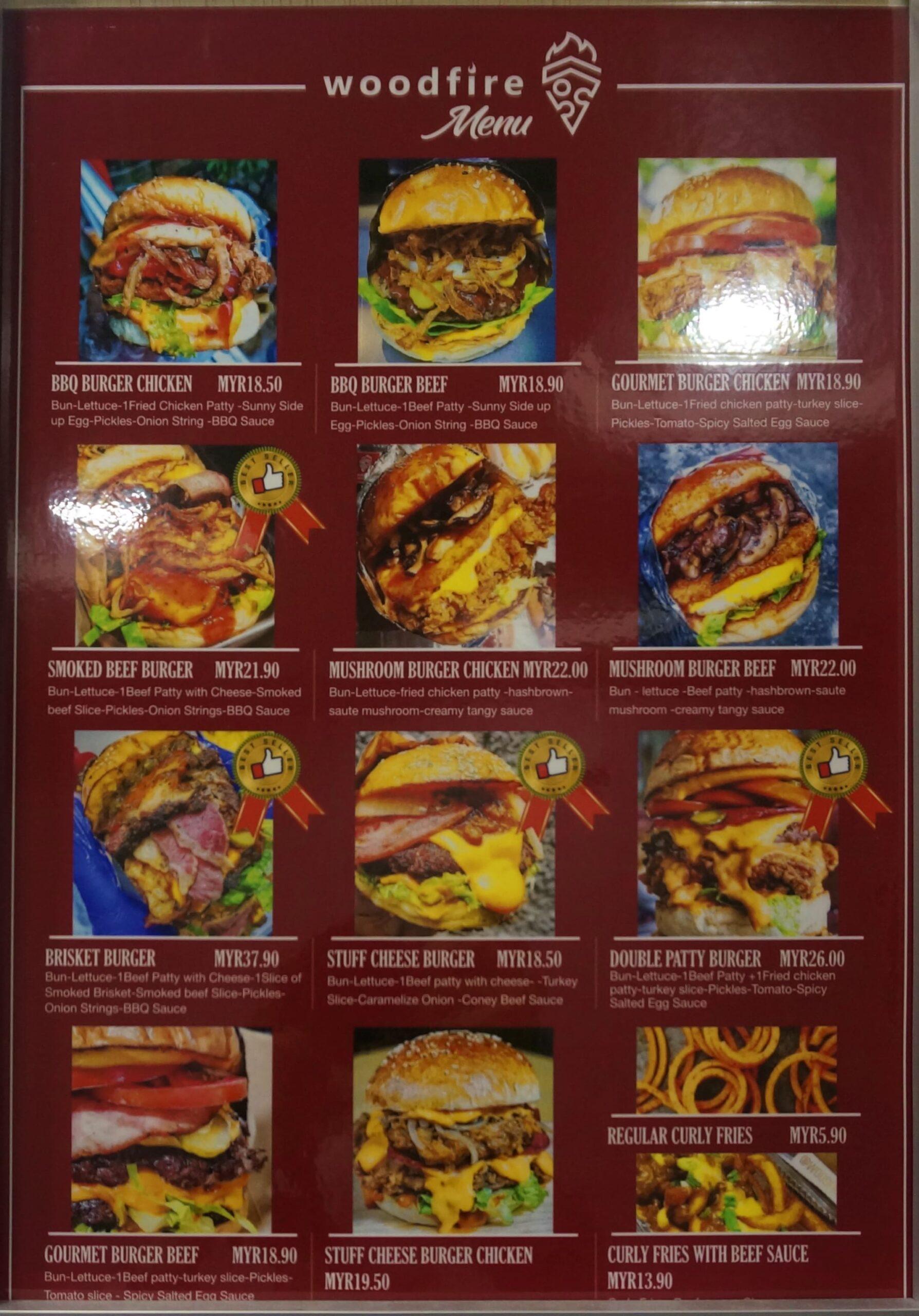 woodfire menu