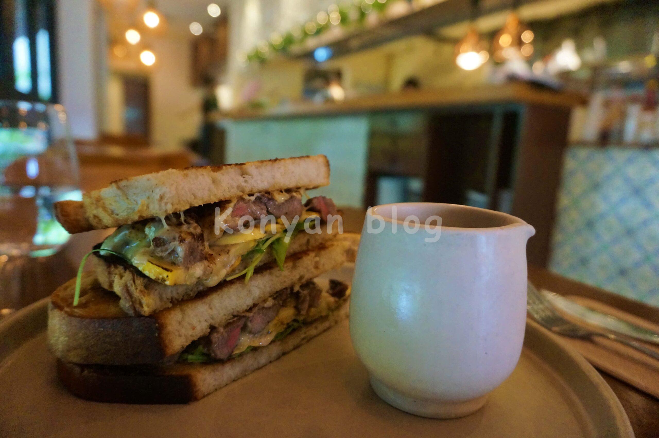 Char Lina Asado + Bar steak sandwich