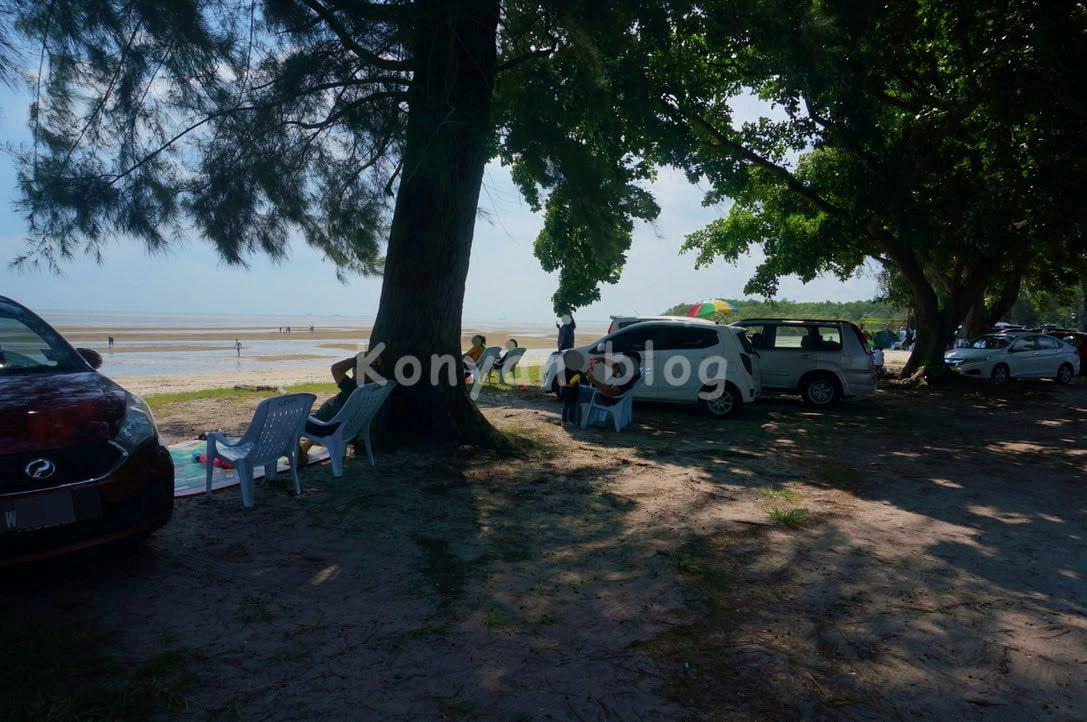 new morib beach pantai morib baharu
